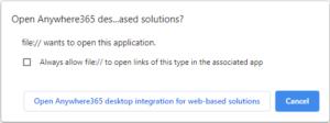 Chrome confirmation