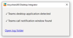 Integrator status window